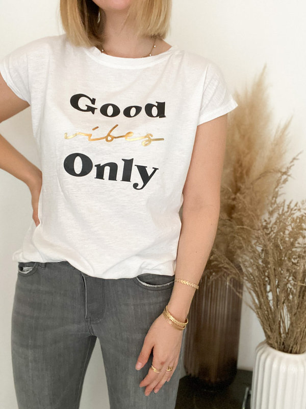 Statement T-Shirt GOOD VIBES ONLY
