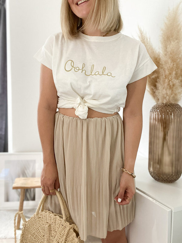 Statement T-shirt Oohlala in Gold