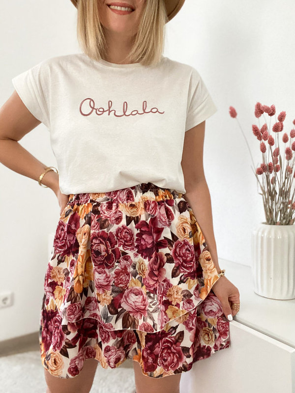 Statement T-shirt Oohlala in Altrosa